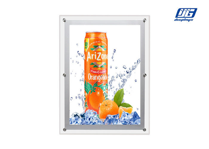 Super Slim Acrylic Led Light Box A2 Size Single Sided Display High Brightness
