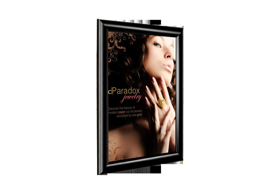 25mm Aluminum Snap Poster Frames A4 Size Sign Boards For Hotel , Street